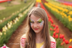 The joy of photography captured in Hannah and the tulips.