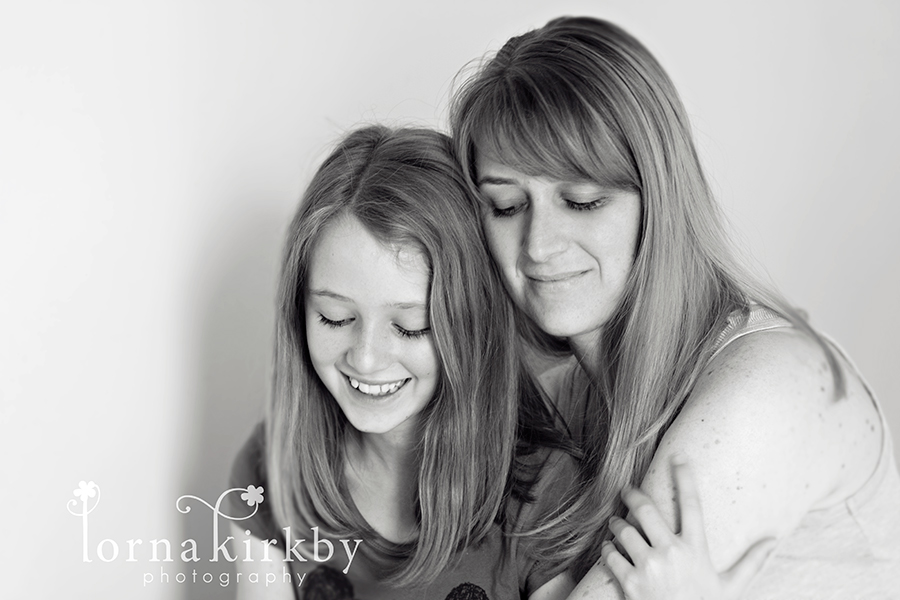 Mother and her daughter, child photography project