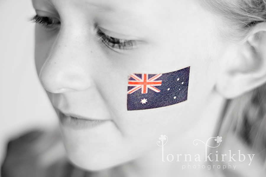 Happy Australia Day image demonstrating black-and-white versus colour in photography.