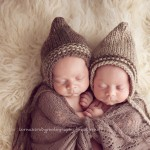 An image of cuddling newborn twins from the Archer and Bodhi session by Melbourne newborn photographer, Lorna Kirkby.
