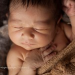 Image of gorgeous newborn boy, Zach portfolio by Melbourne newborn photographer Lorna Kirkby
