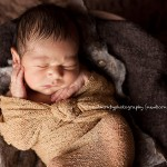Image of sleeping newborn baby from the Zach portfolio by Melbourne newborn photographer Lorna Kirkby