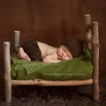 Pic of peaceful sleeping newborn baby boy from the Finn Collection by Lorna Kirkby, Melbourne newborn photography.
