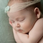 Pic of stunning newborn baby girl sleeping from Sienna portfolio by Melbourne newborn baby photographer Lorna Kirkby.