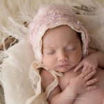 Photo of gorgeous, peaceful newborn baby. This is from the Tayla Collection by Melbourne newborn and baby photographer, Lorna Kirkby. Lorna specialises in baby, newborn, child and maternity photography.