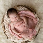 Sleeping newborn in a basket. Newborn photography mentoring, also from the Matilda Portfolio.