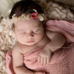 Stunning newborn in pink. Newborn photography mentoring from the Matilda Collection.