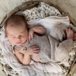A gorgeous newborn baby boy sleeping.