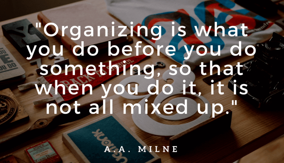 How to Get Organised in a Hectic World