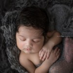 Noah posed for a newborn baby session.