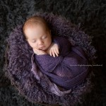 Tayla in purple during newborn and baby sessions.