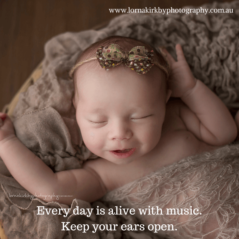 Newborn Musings -Keep Your Ears Open