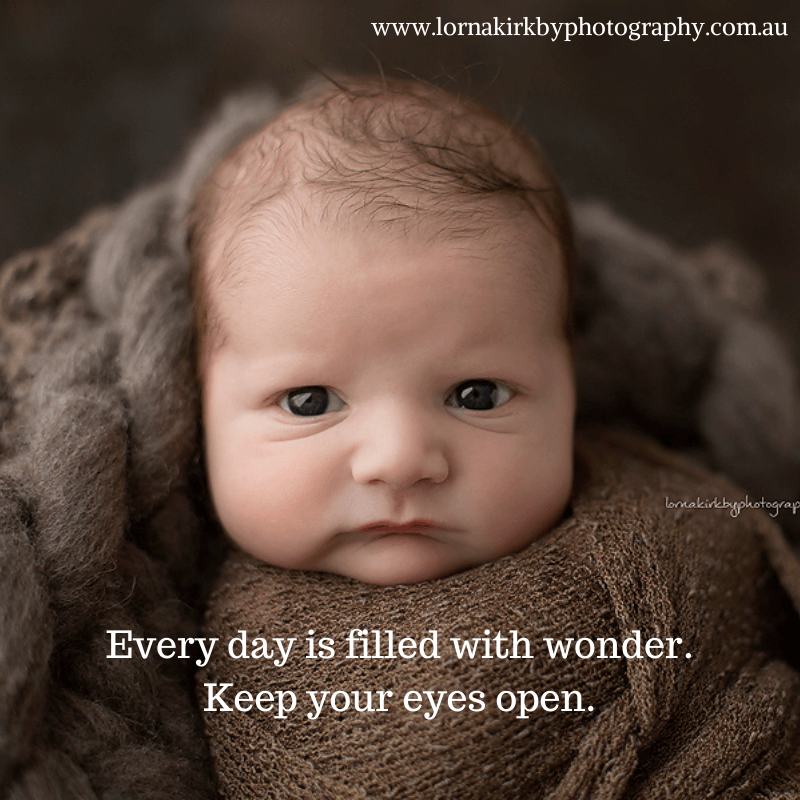 Newborn Musings, Keep your eyes open!YES