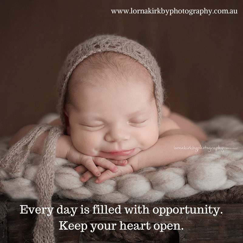 Inspirational Newborn Images - Keep your heart open.