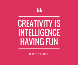 Albert Einstein's quote on creativity.