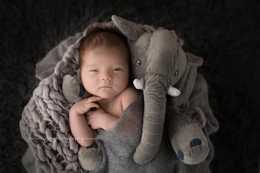 Newborn photo props, Making the story count