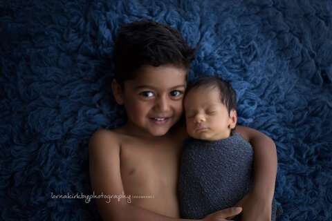 Newborn Portraits, February - Noah & Elliot